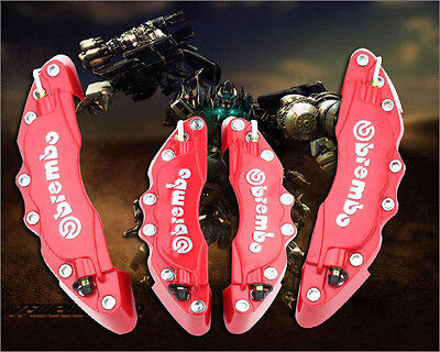 New Brembo Red Brake Caliper Covers Front Rear Set Universal Car Truck 3D HB18