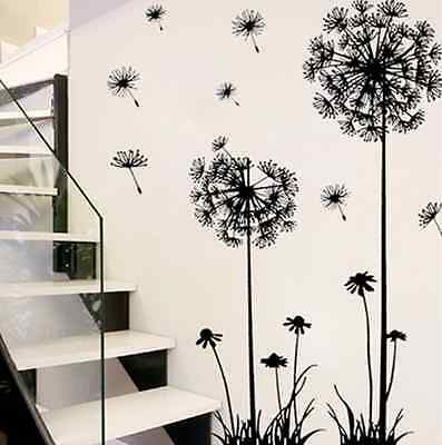 Home Decor Dandelion Fly Mural Decal Room Wall DIY Sticker Vinyl Art Removable