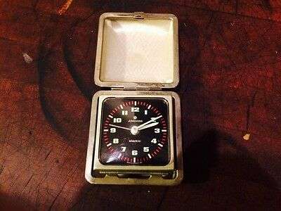 JUNGHANS SILENTIC ALARM CLOCK WITH CONCEALING CASE -Germany
