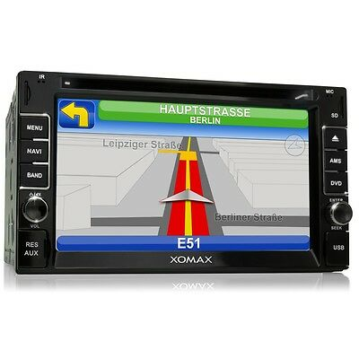 Autoradio Bluetooth Gps Navegación Dvd/cd Usb Sd Doble 2Din Radio De Coche Aux