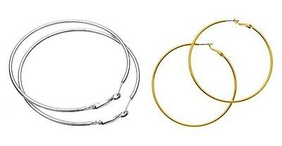 Large Thin Hoop Earrings Silver Or Gold **hot**