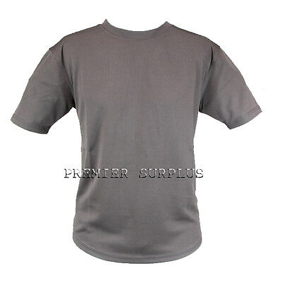 British Army Issue Brown Coolmax T-Shirt in New Condition Size Small
