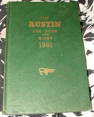 Austin Log Book & Diary 1961 vintage cars
