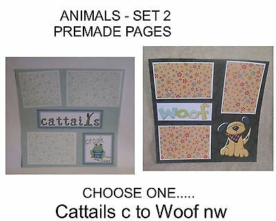 """ANIMALS"" -SET 2 - Premade Page 12x12-Choose One-Just Add Pics!"