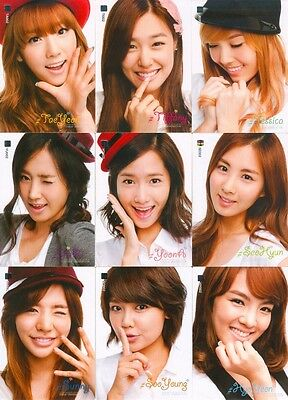 SNSD Girls' Generation Star Card Season 1 Official Common Card Full Set 002