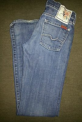 Seven for All Mankind Women's Denim Jeans Size 26 Low Rise Boot Cut
