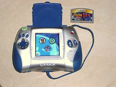 Leap Frog Leapster L-Max Educational Learning Game System Blue with 1 Game