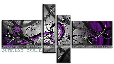 P298 4PCS Hand painted Oil Canvas Wall Art Home Decor Modern abstract NO Frame