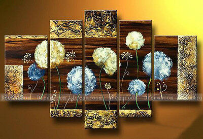 P308 5pcs Hand painted Oil Canvas Wall Art Home Decor modern abstract NO Frame