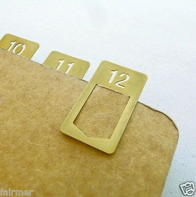 12 PCS Vintage Brass Copper Bookmarks Clip For Travelers Journal Note Book Paper
