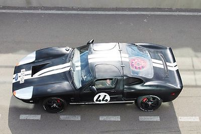 Replica/Kit Makes : GT40 2 door coupe Ford GT40 black with white racing stripes.