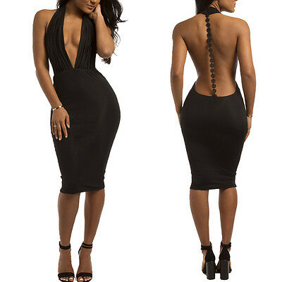 New Womens Sexy Bodycon Cocktail Party Cocktail Fashion Black  dress 4353