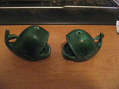 Vintage Pair of Ceramic Whale Ashtrays with Blow-Holes for Smoke Escape