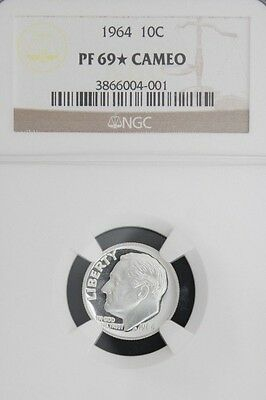 1964 Roosevelt NGC PF 69 *STAR* CAMEO. INCREDIBLE CONTRAST! 1 of only 21.