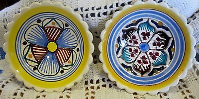 VINTAGE QUIMPER - FRENCH FAIENCE-POTTERY BUTTER PAT OR DOLL DISH - PLATE
