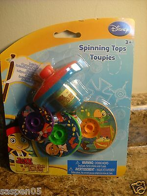 Disney Junior JAKE AND THE NEVERLAND PIRATES Spinning Tops Set NEW