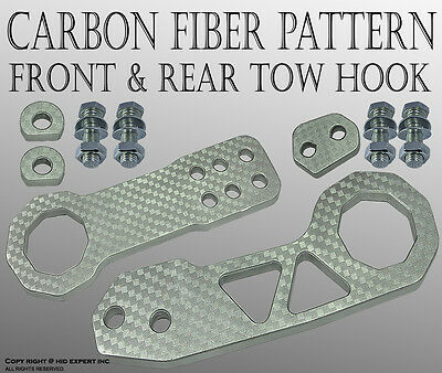 ABL FORD 1SET Front and Rear High Quality CNC Billet Kit TOW HOOK SILVER P#5 E7A