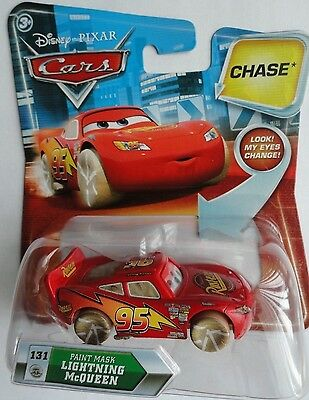 "DISNEY PIXAR CARS ""PAINT MASK LIGHTNING McQUEEN"" CHASE CAR KMART EXCLUSIVE"