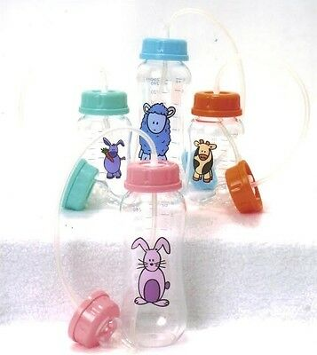 [12 Pack] Hands-Free Baby Bottle Feeding System 9oz - BPA Free Baby Park Bottles