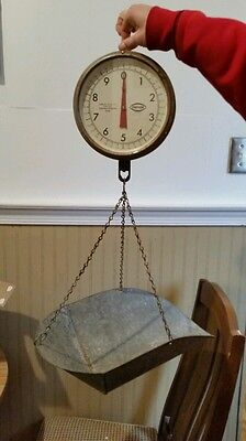 Vintage Antique Chatillon Type 027 Hanging Produce Scale ▪ WORKS GREAT ▪ 20 Lbs