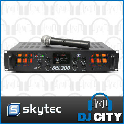 SPL300-VHF Skytec 300Watts Power Amp Built in VHF Mic PA DJ Band Amplifier Mi...