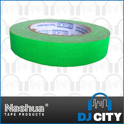 Nashua Neon511G24 Fluro Green Cloth Tape - 24mm Wide