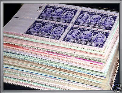 LARGE Old LOT Mint NH US PLATE BLOCKS Stamps Vintage Collection mnh !
