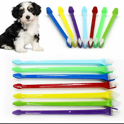 Double Ended Toothbrush Pet Dog Oral Dental Teeth Cleaning Hygiene 3 For 2  UK