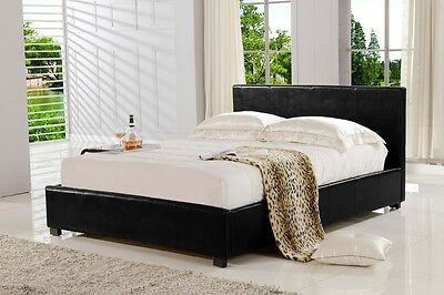 California Leather Bed Frame (King/Queen/Double)