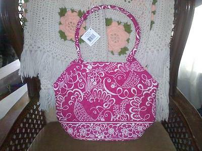 VERA BRADLEY ANGLE TOTE TWIRLY BIRDS CANVAS SHOULDER  BAG BRAND NEW WITH TAGS