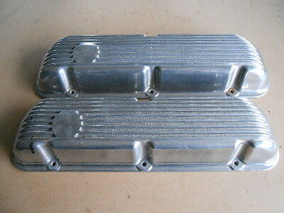 FINNED ALUMINUM VALVE COVERS SB FORD 289 302 351W GASSER RAT ROD FALCON MUSTANG