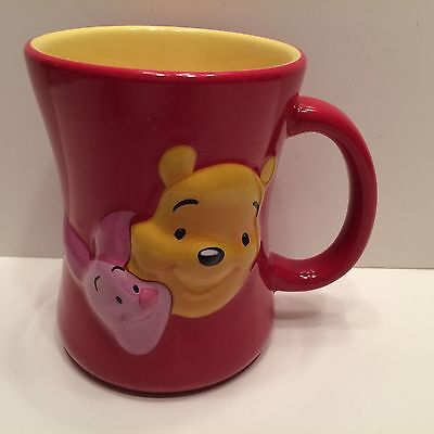 "WINNIE the POOH & PIGLET ""Friends Forever"" DISNEY Store 3D Coffee MUG Cup EXC!"