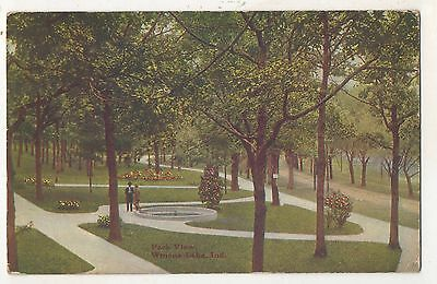 Park View, WINONA LAKE IN Vintage 1912 Indiana Postcard