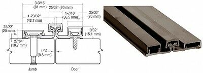Dark Bronze 250 Series Heavy-Duty Full Surface Continuous Hinge - 83""