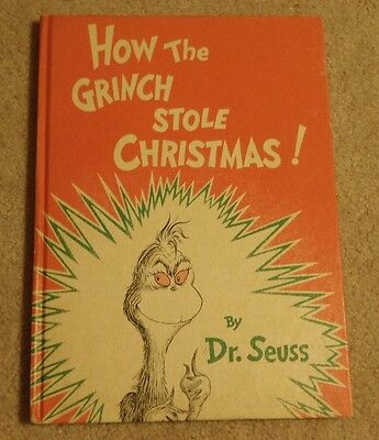 How the Grinch Stole Christmas by Dr. Seuss - Early 1970s Edition Hardcover
