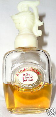 VINTAGE 1960S KINGS MEN AFTER SHAVE LOTION SPLASH 1.75 OZ. RARE COLLECTIBLE  JF