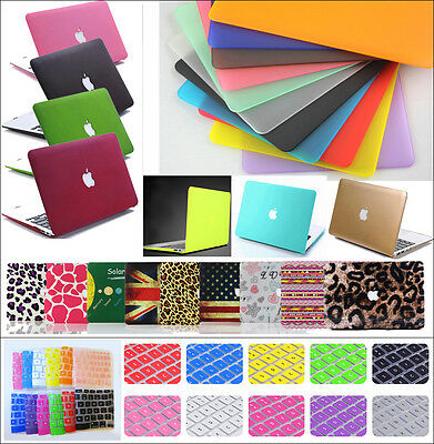 """Rubberized Hard Shell Case +Keyboard Cover for Macbook Pro 13/15"""" Air 11/13""""inch"""