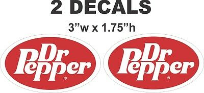 2 Vintage style Doctor Dr Pepper Oval Decals - Nice!!