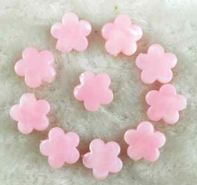 30 Pcs ~14mm Pink Flower Spacer Loose Beads # DIY Jewelry Findings