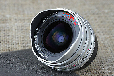 Voigtlander 15mm Wide Heliar Lens Leica M-Mount & M39 l39 screw M 9 8 7 6 camera