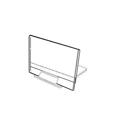 "SET OF 20 STAND ALONE PRICE LABEL HOLDERS WITH LABEL INSERTS 2.5""x3.4"" 6.5x8.5CM"