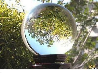 HOT* ASIAN QUARTZ Clear Crystal Ball Sphere 40mm +stand+FREE GIFT