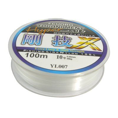 100m 0.55mm Diameter Clear Fsing Thread 23Kg 77.1lb Fishing Line Spool ST