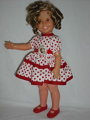 """Vintage 1972 16"""" All Vinyl Ideal Shirley Temple Doll In Stand Up and Cheer Dress"""