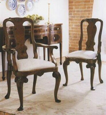 Walnut Queen Anne Side / Dining Chair Antique Reproduction NEW