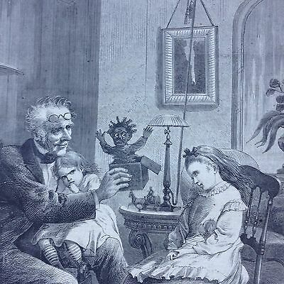 Harper's Weekly Woodcut Print Of Children Toys Jack In The Box Cover 1870
