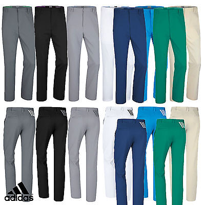 Adidas Golf  MENS Puremotion 3 Stripe Flat Front Pant Trousers NEW 2016