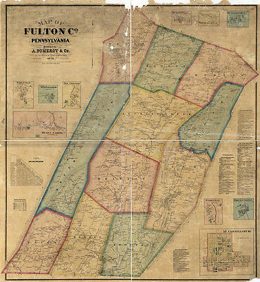 1873 Map of Fulton County Pa