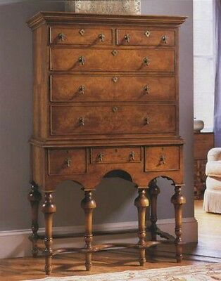 Walnut William and Mary Highboy / Chest of drawers Antique Reproduction New