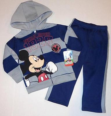 MICKEY MOUSE Toddler Boys 3T Hoodie OUTFIT Shirt Pants Sweatshirt Disney